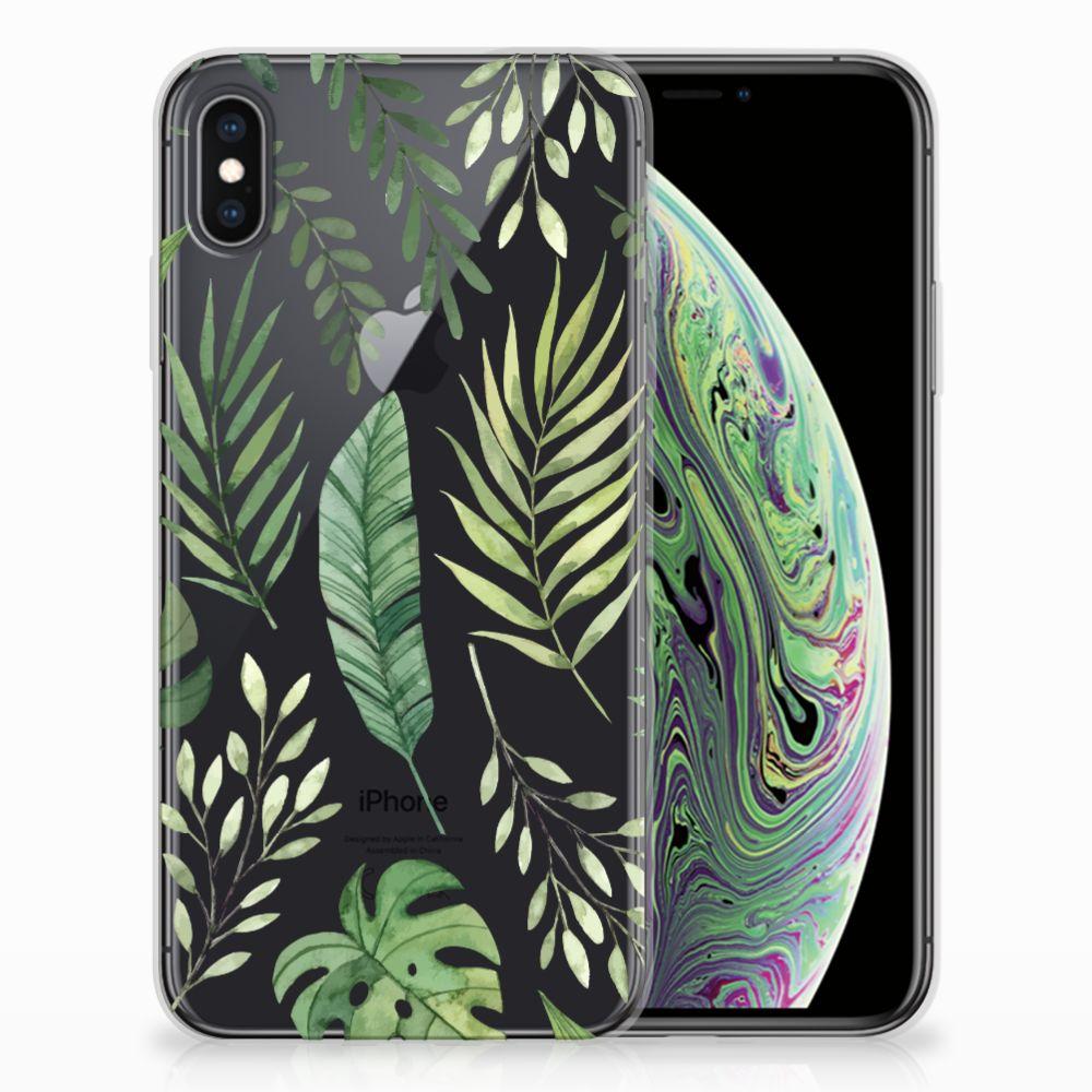 Apple iPhone Xs Max TPU Case Leaves