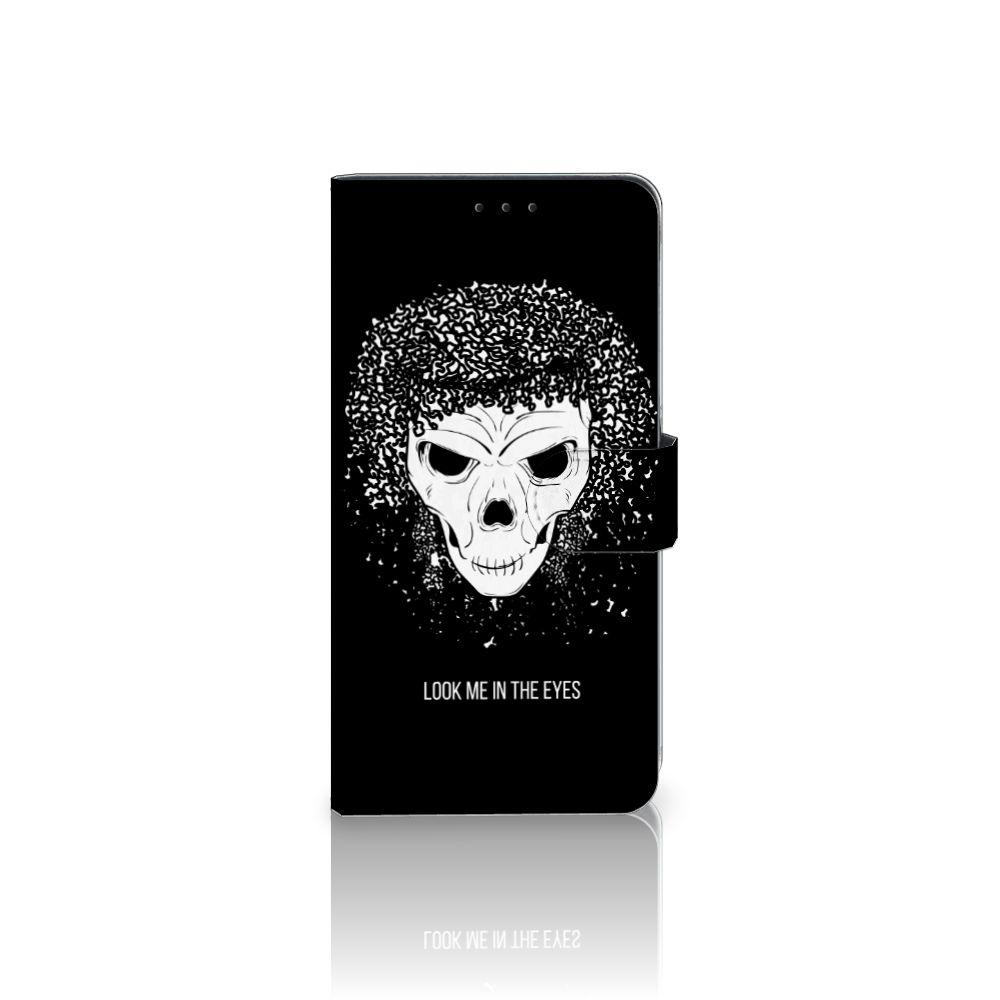 Samsung Galaxy A8 Plus (2018) Uniek Boekhoesje Skull Hair