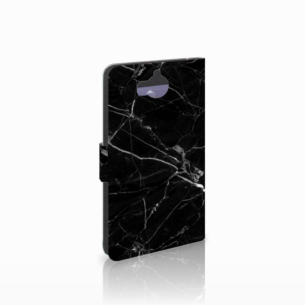 Huawei Y5 | Y6 2017 Uniek Boekhoesje Marmer Zwart