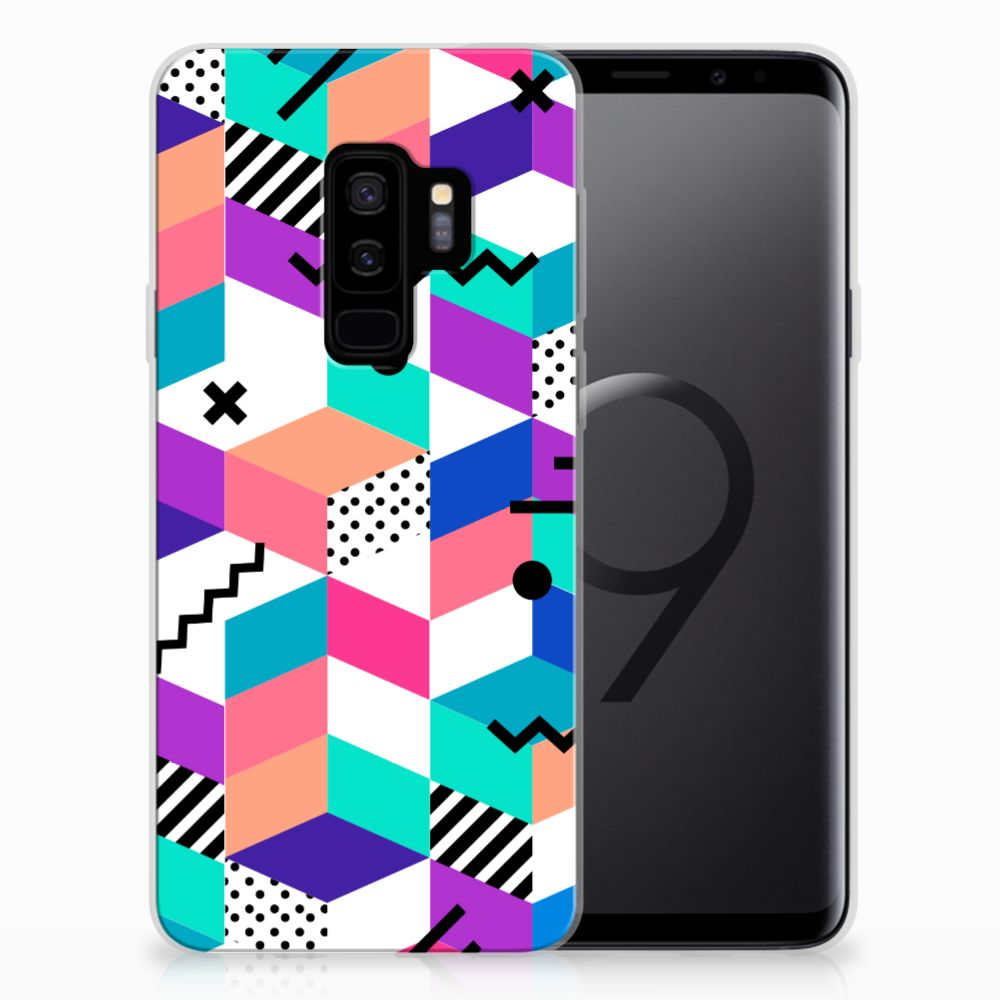 Samsung Galaxy S9 Plus TPU Hoesje Blokken Kleurrijk