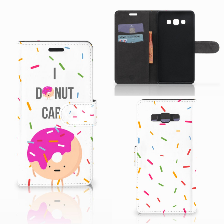 Samsung Galaxy A7 2015 Book Cover Donut Roze