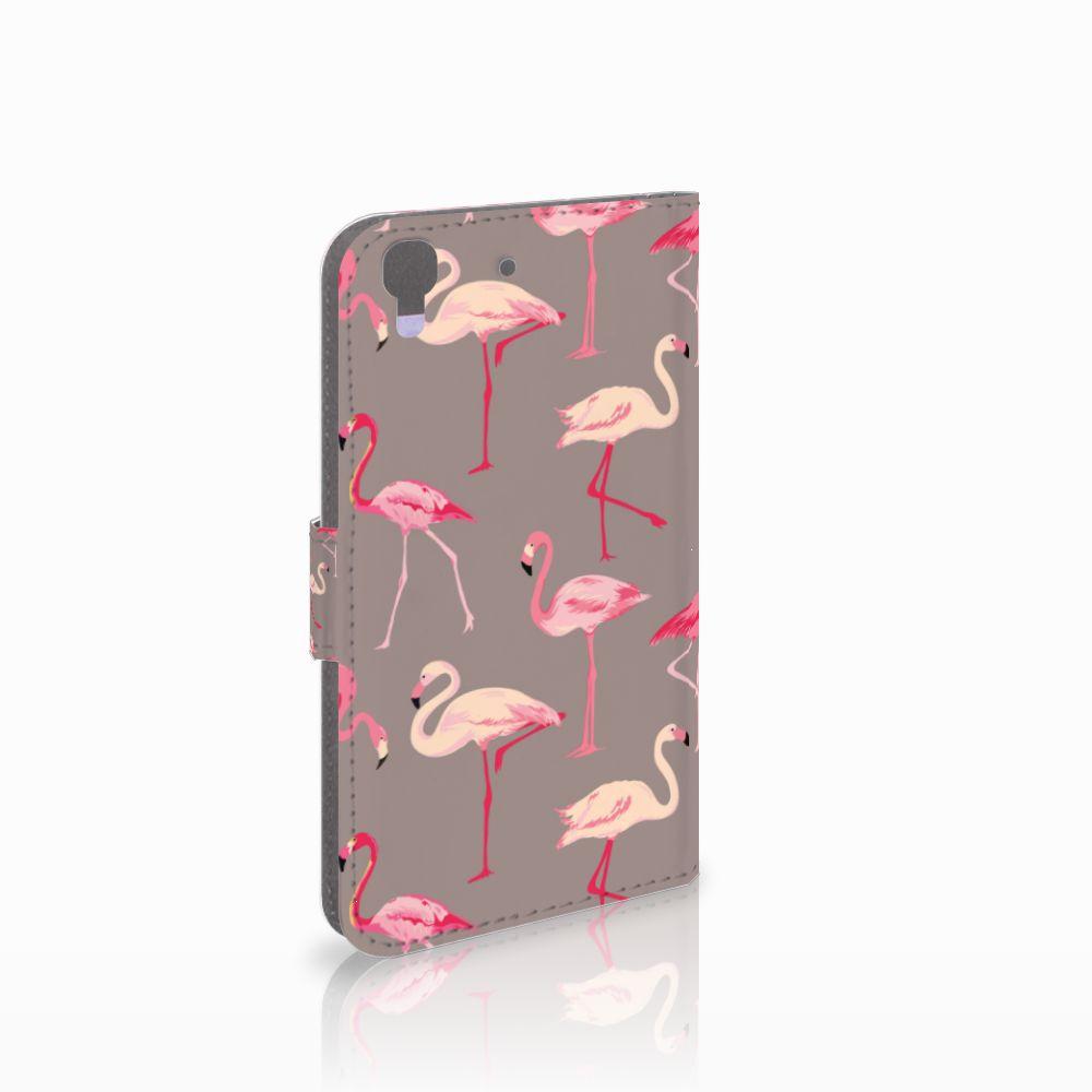 Honor 4A   Y6 Uniek Boekhoesje Flamingo
