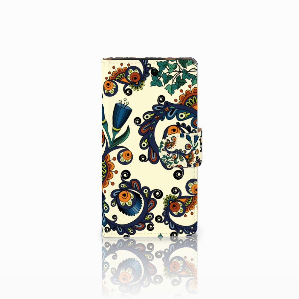 HTC Desire 601 Boekhoesje Design Barok Flower