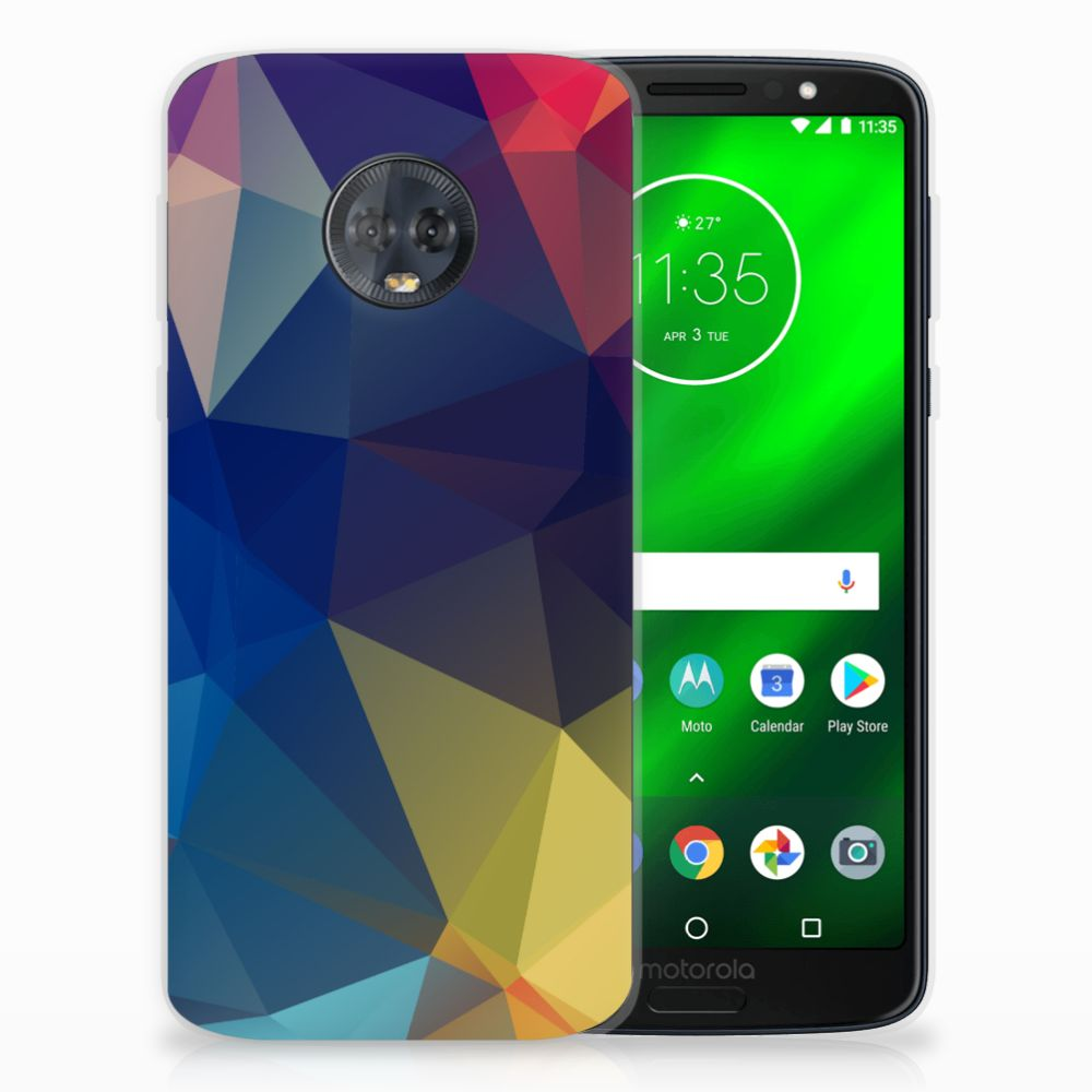 Motorola Moto G6 Plus TPU Hoesje Polygon Dark
