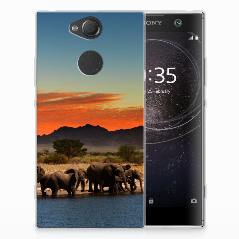 Sony Xperia XA2 TPU Hoesje Design Olifanten