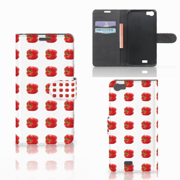 Wiko Lenny Book Cover Paprika Red
