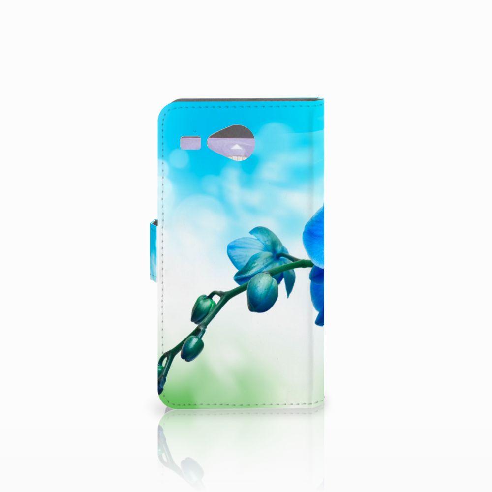 Acer Liquid Z520 Hoesje Orchidee Blauw