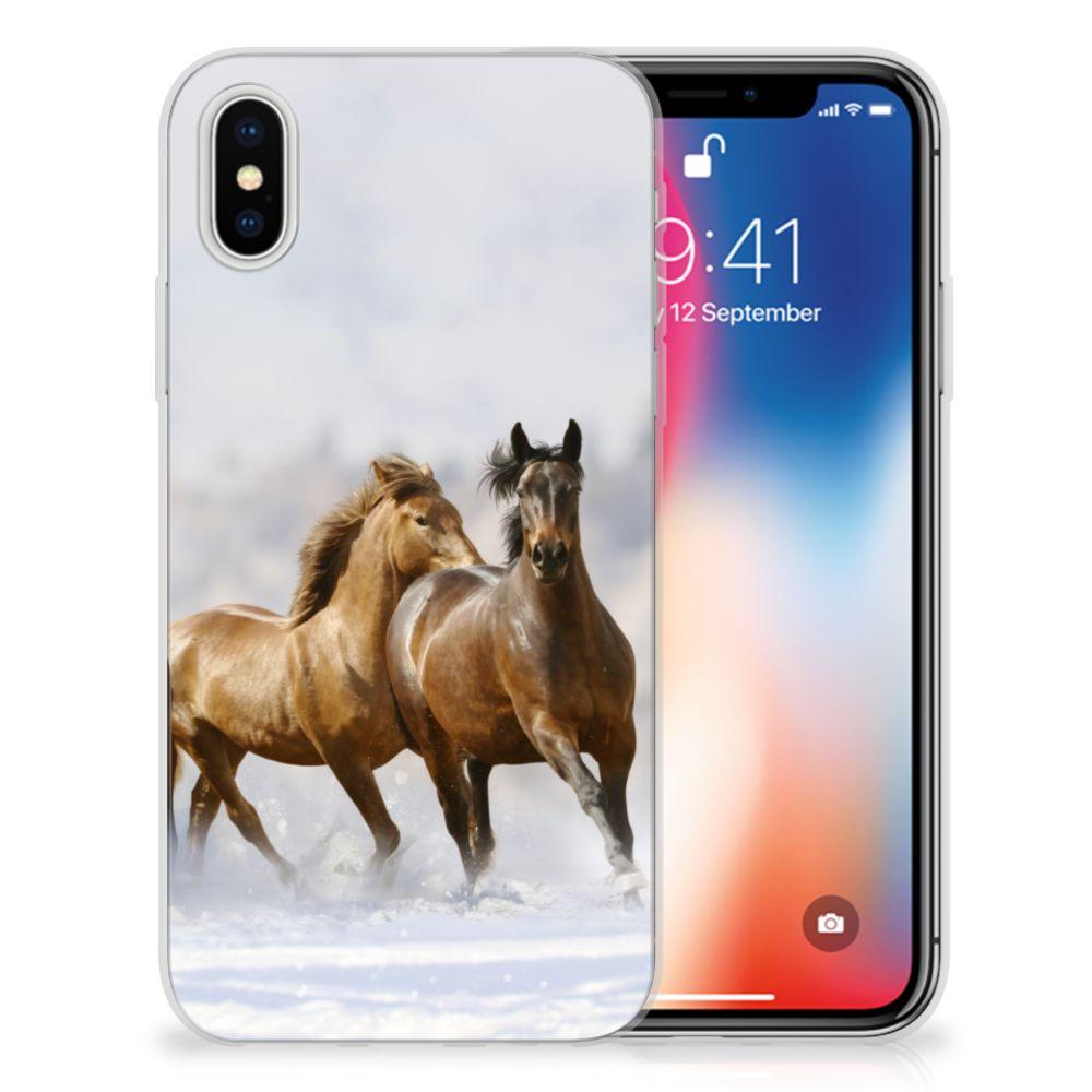 Apple iPhone X | Xs Uniek TPU Hoesje Paarden