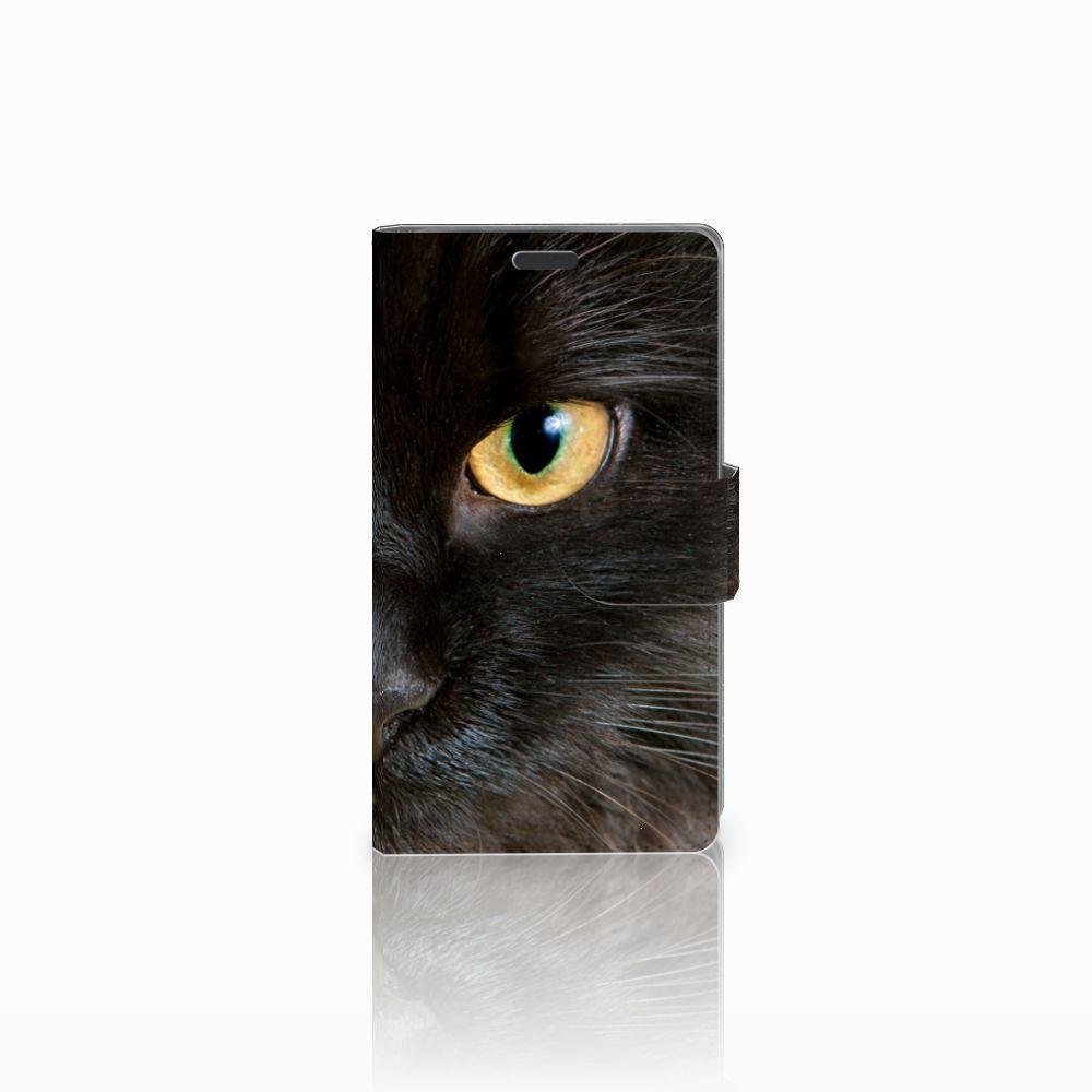 Nokia Lumia 625 Uniek Boekhoesje Zwarte Kat