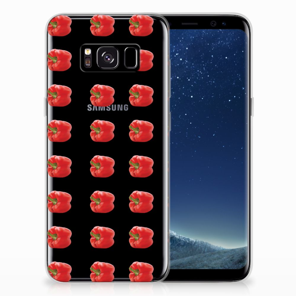 Samsung Galaxy S8 Siliconen Case Paprika Red