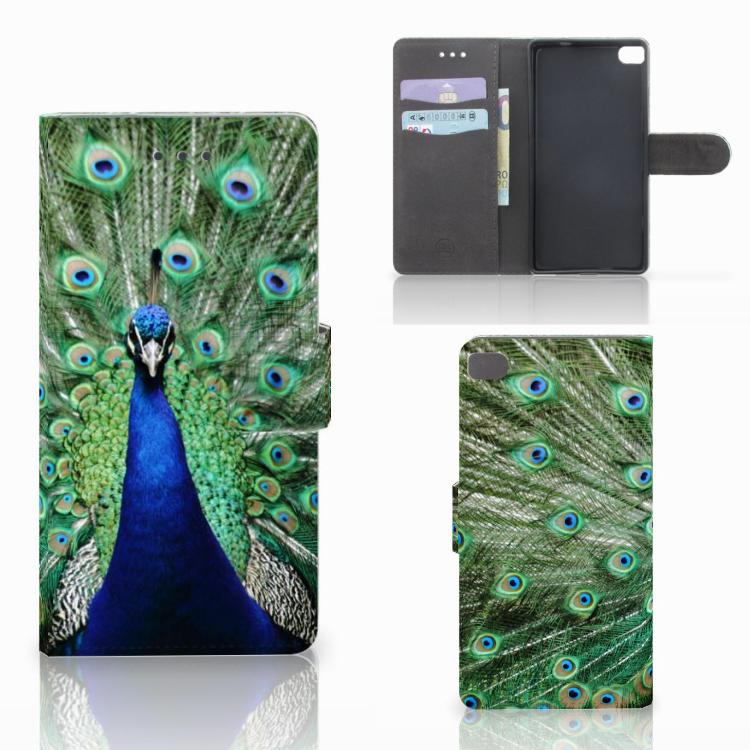Huawei P8 Telefoonhoesje met Pasjes Pauw