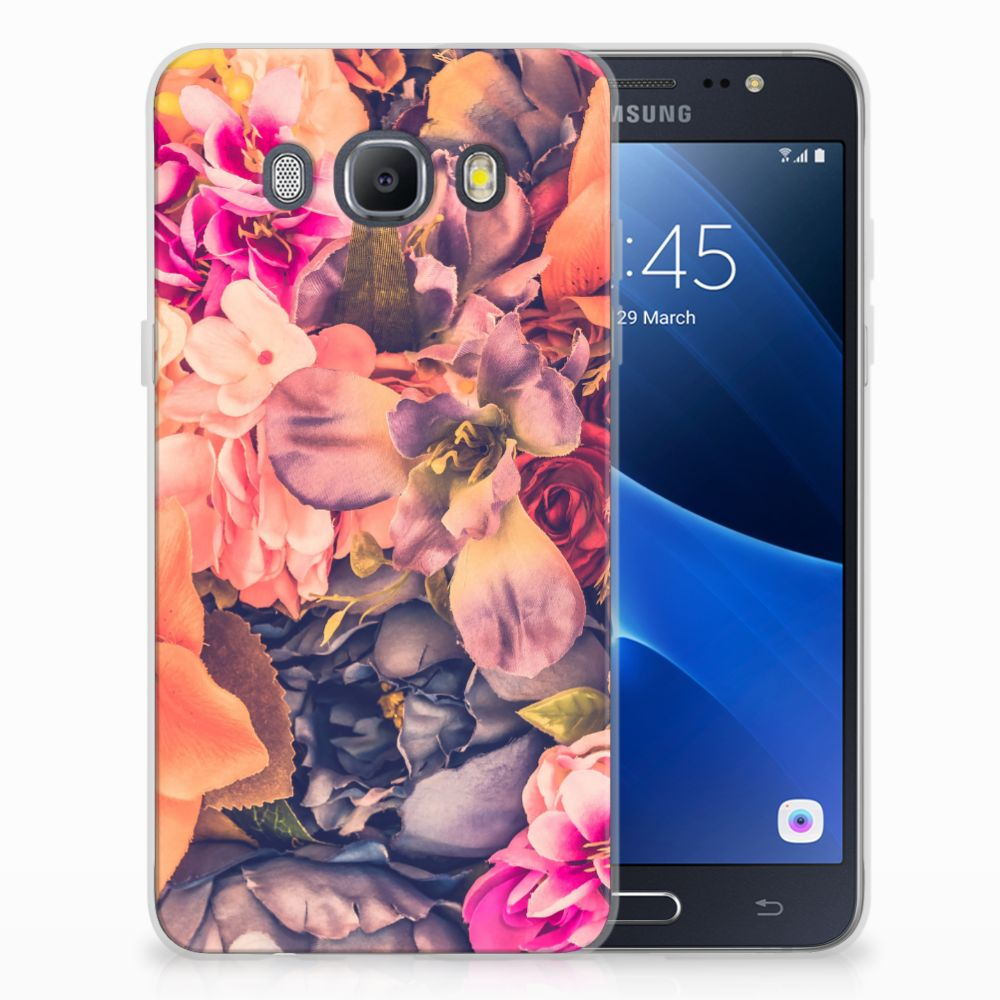 Samsung Galaxy J5 2016 TPU Hoesje Design Bosje Bloemen