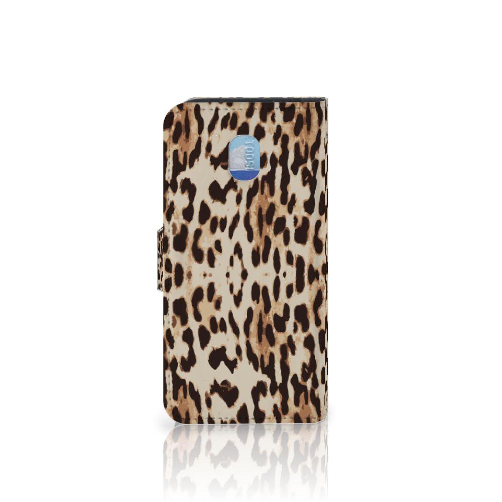 Samsung Galaxy J3 (2018) Telefoonhoesje met Pasjes Leopard