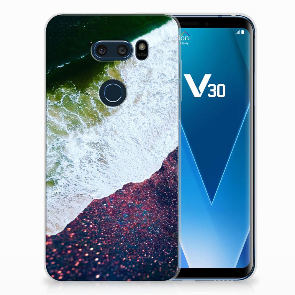 LG V30 TPU Hoesje Design Sea in Space