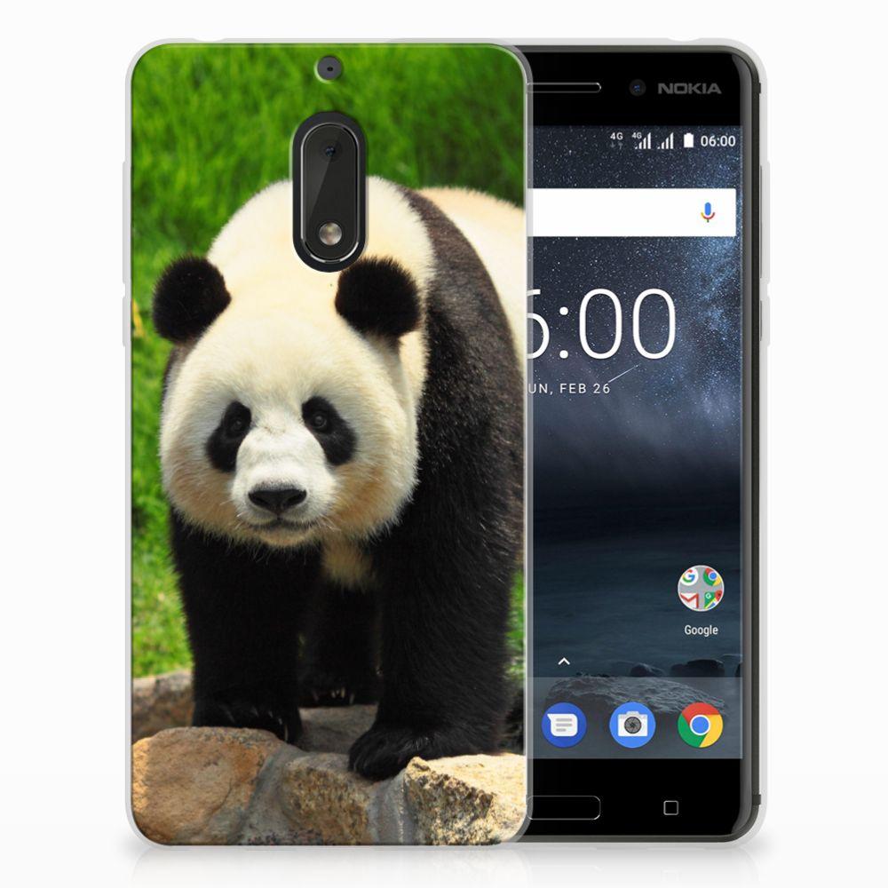 Nokia 6 TPU Hoesje Panda