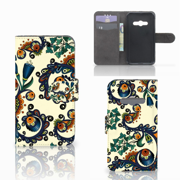 Wallet Case Samsung Galaxy Xcover 3 | Xcover 3 VE Barok Flower