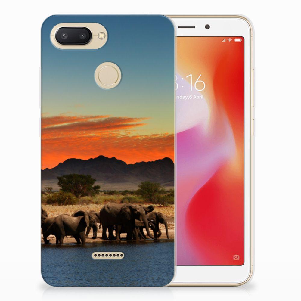 Xiaomi Redmi 6 TPU Hoesje Olifanten