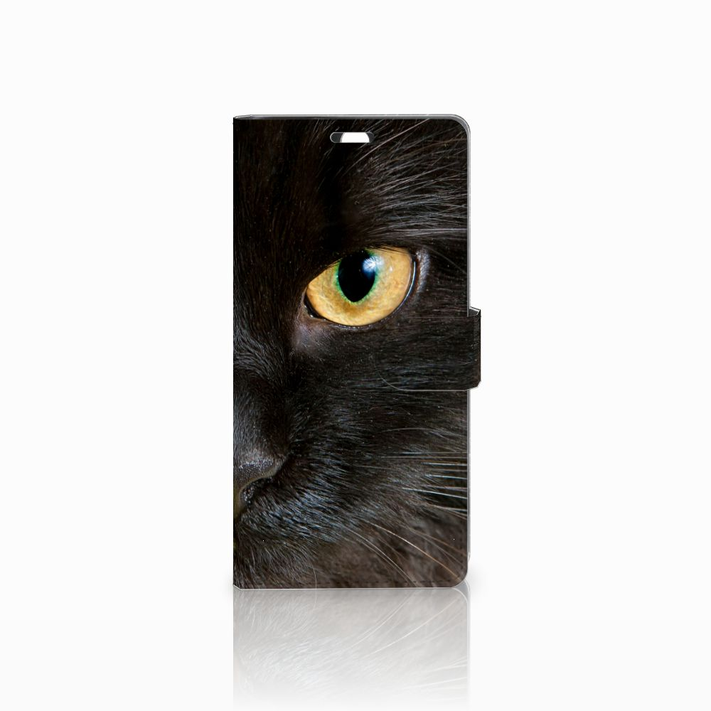 Sony Xperia C5 Ultra Uniek Boekhoesje Zwarte Kat