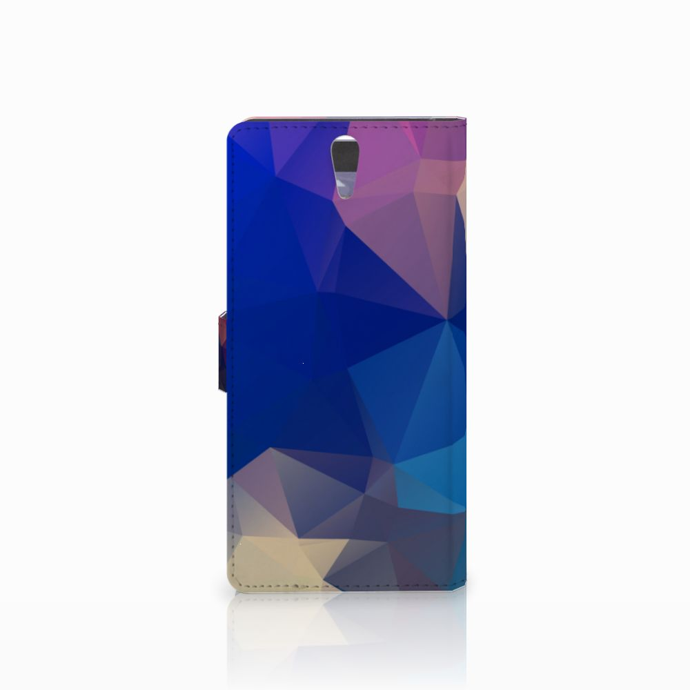 Sony Xperia C5 Ultra Bookcase Polygon Dark