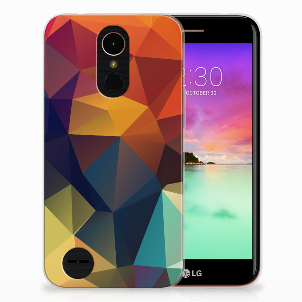 LG K10 2017 TPU Hoesje Polygon Color
