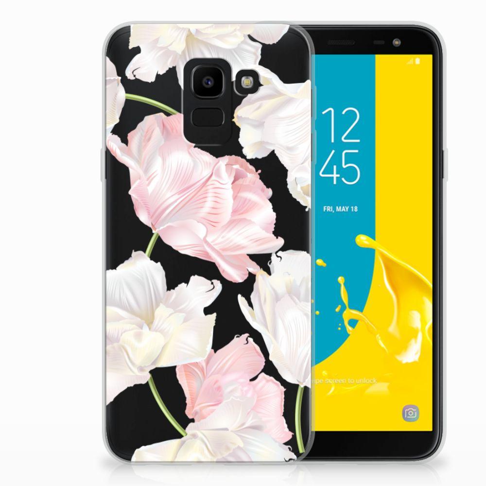 Samsung Galaxy J6 2018 TPU Hoesje Design Lovely Flowers