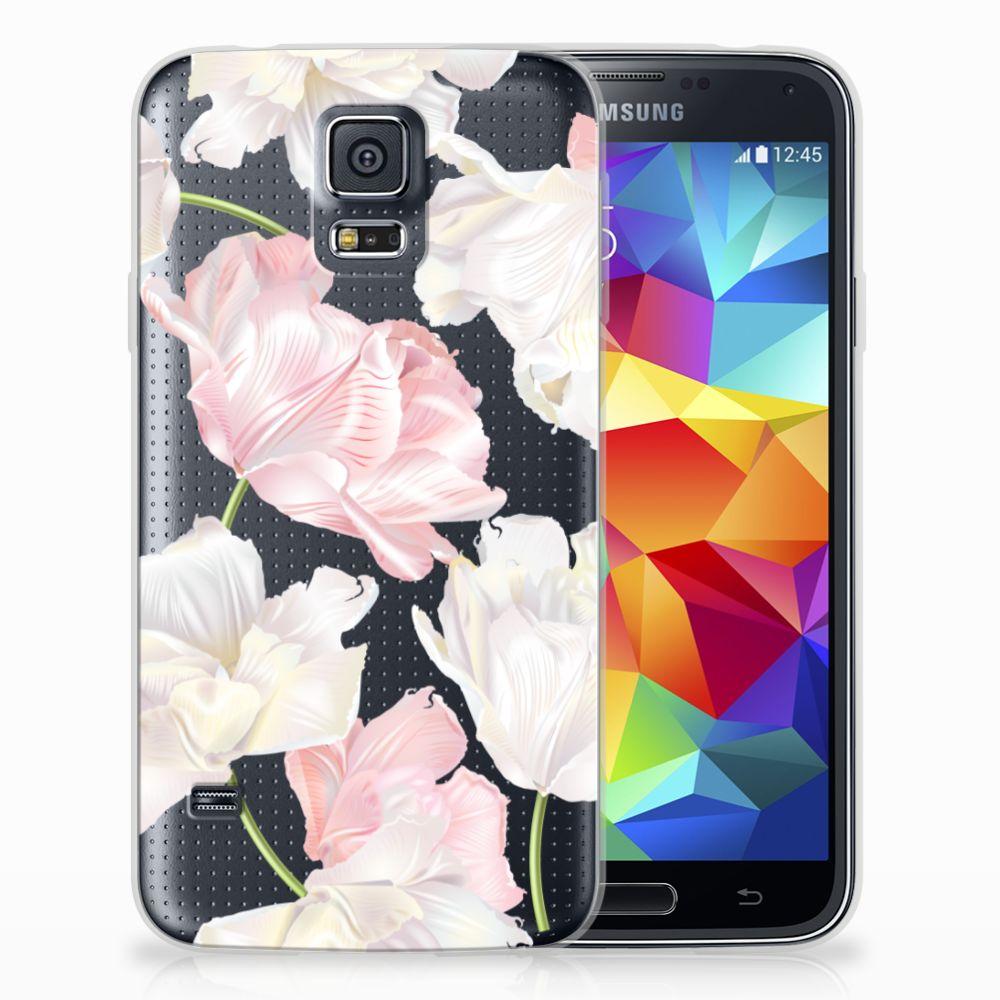 Samsung Galaxy S5 TPU Hoesje Design Lovely Flowers