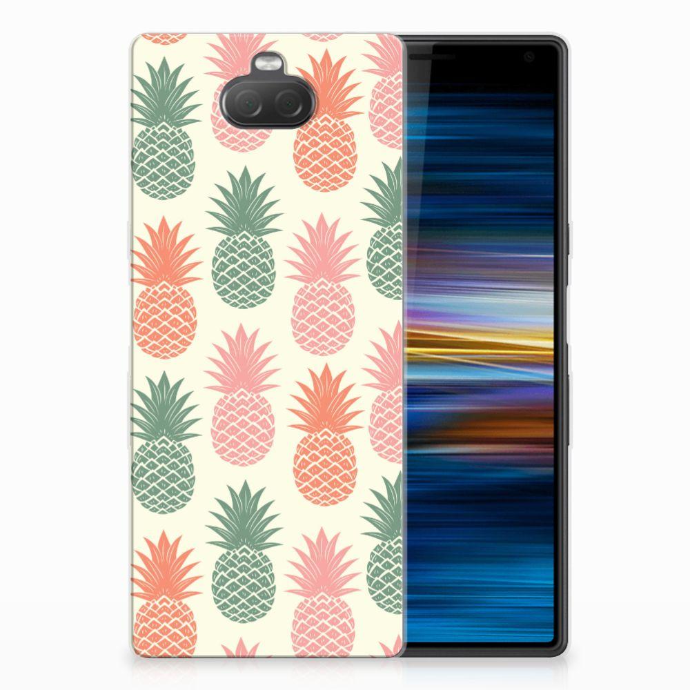 Sony Xperia 10 Siliconen Case Ananas