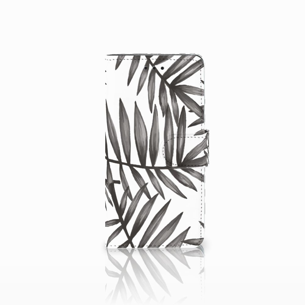 Huawei Y5 2018 Hoesje Leaves Grey