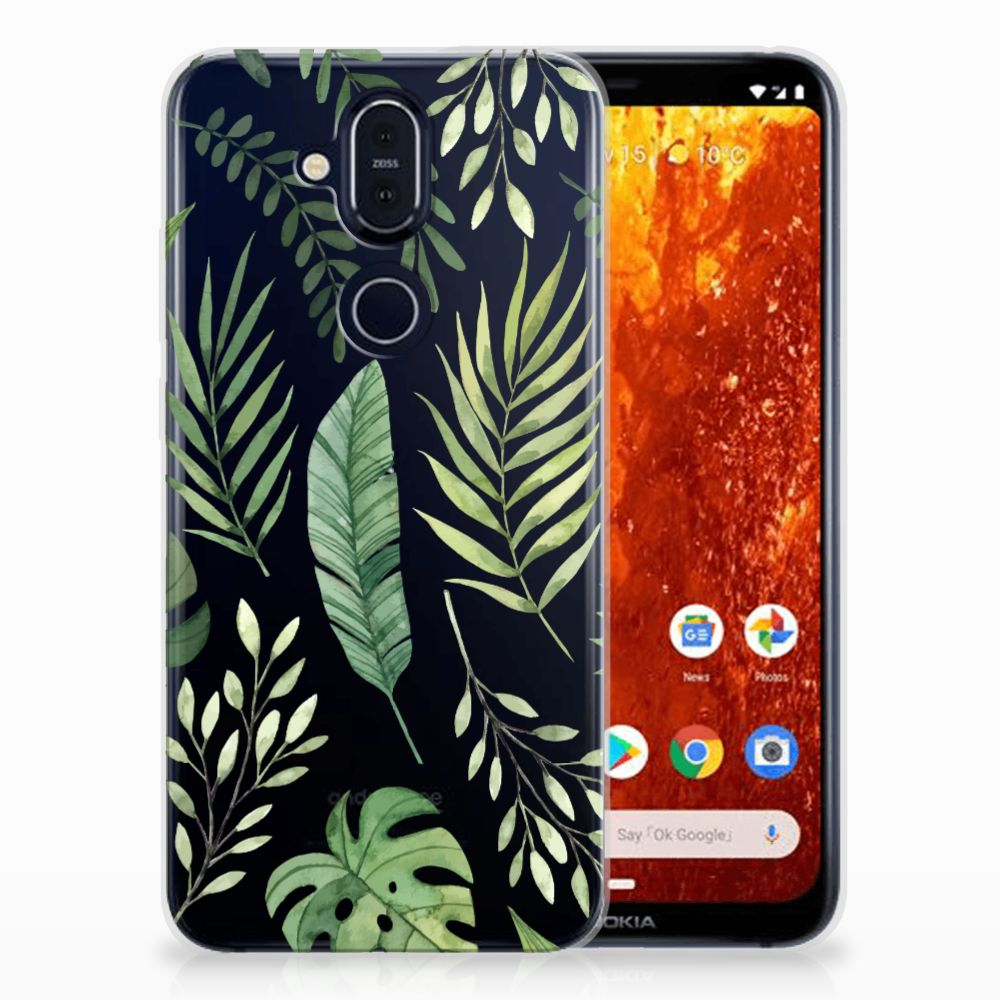 Nokia 8.1 TPU Case Leaves