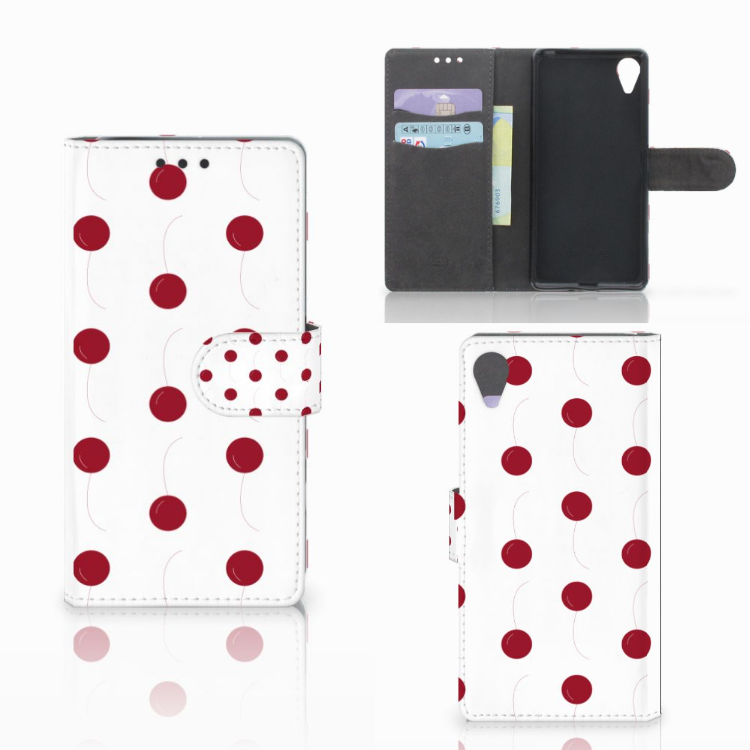Sony Xperia X Performance Book Cover Cherries