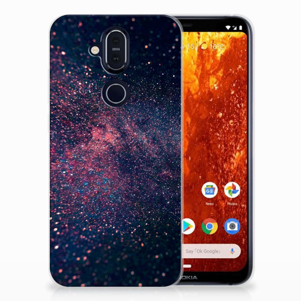 Nokia 8.1 TPU Hoesje Stars