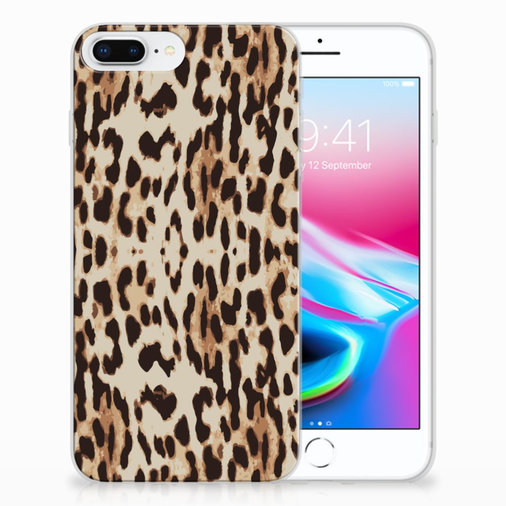 Apple iPhone 7 Plus | 8 Plus Uniek TPU Hoesje Leopard
