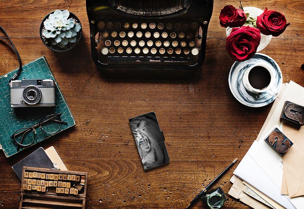 Huawei Ascend Y550 Telefoonhoesje met Pasjes Tijger