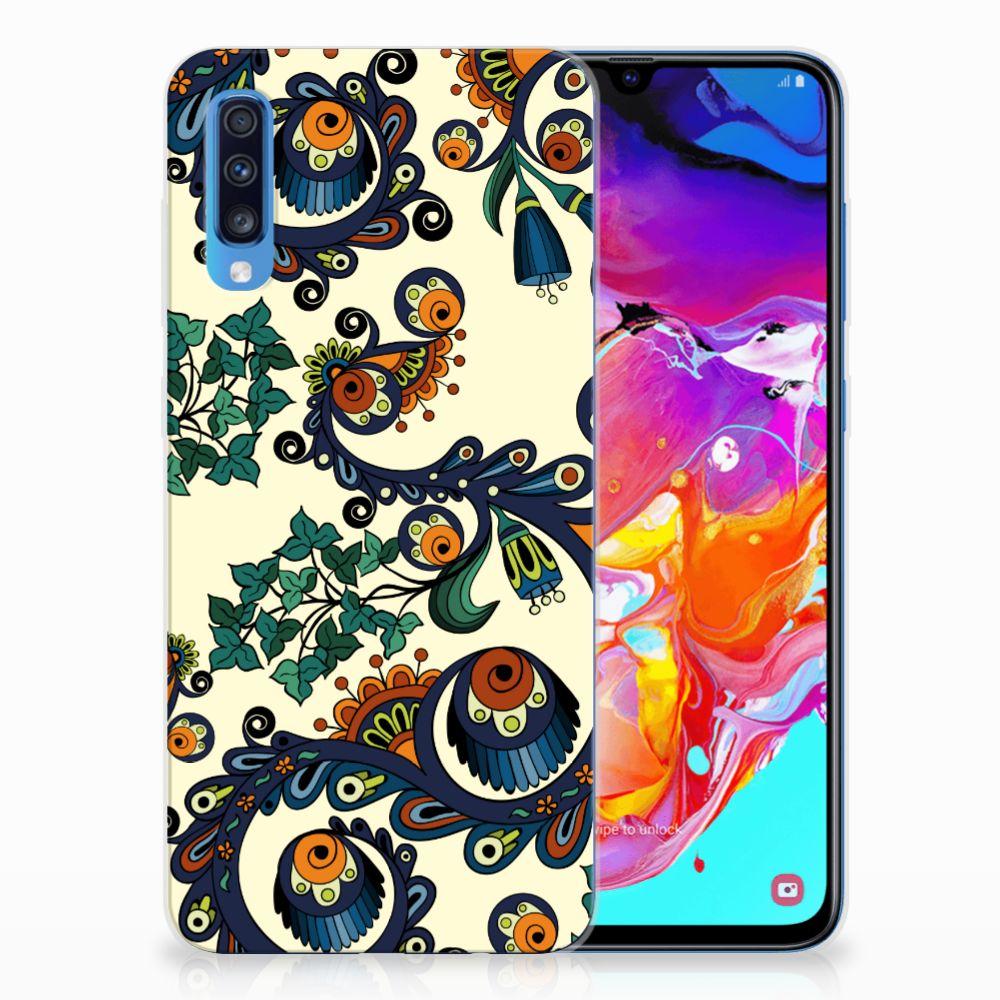 Samsung Galaxy A70 TPU Hoesje Design Barok Flower