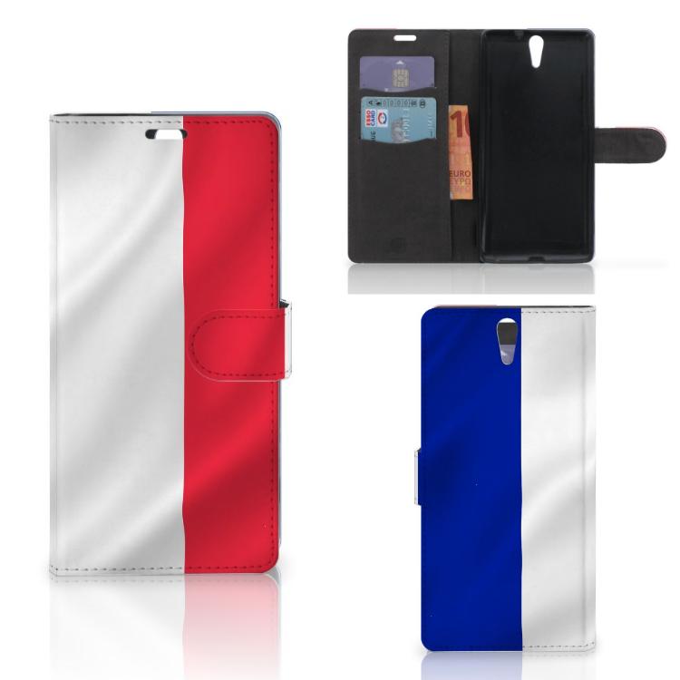 Sony Xperia C5 Ultra Bookstyle Case Frankrijk