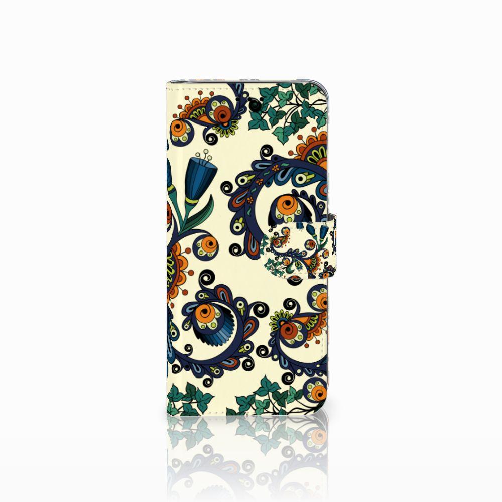 Samsung Galaxy A6 2018 Boekhoesje Design Barok Flower
