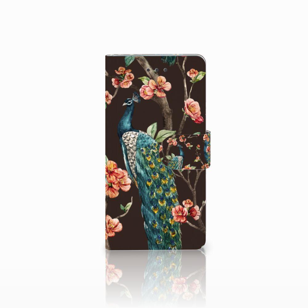 Huawei Ascend P8 Boekhoesje Design Pauw met Bloemen
