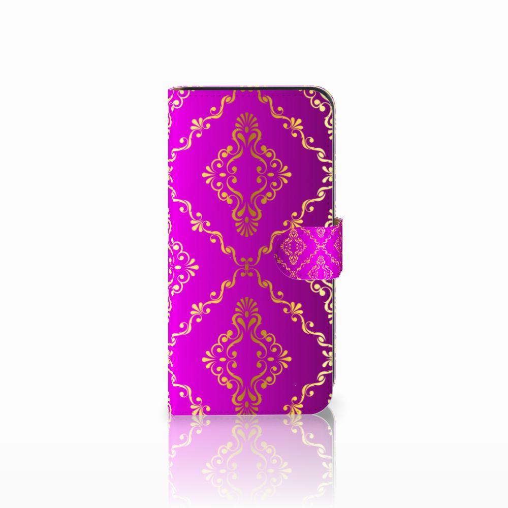 Wallet Case Samsung Galaxy E7 Barok Roze