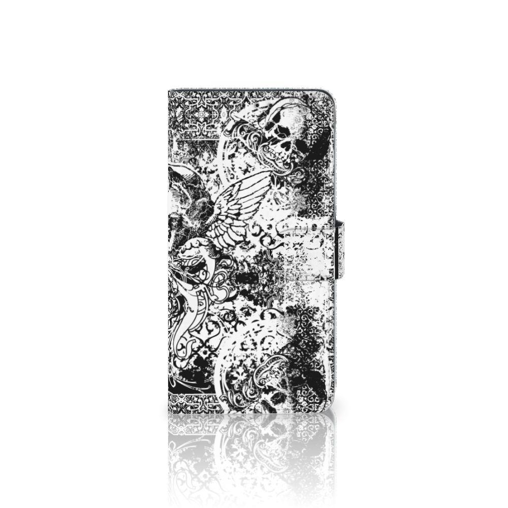 Samsung Galaxy A8 Plus (2018) Boekhoesje Design Skulls Angel