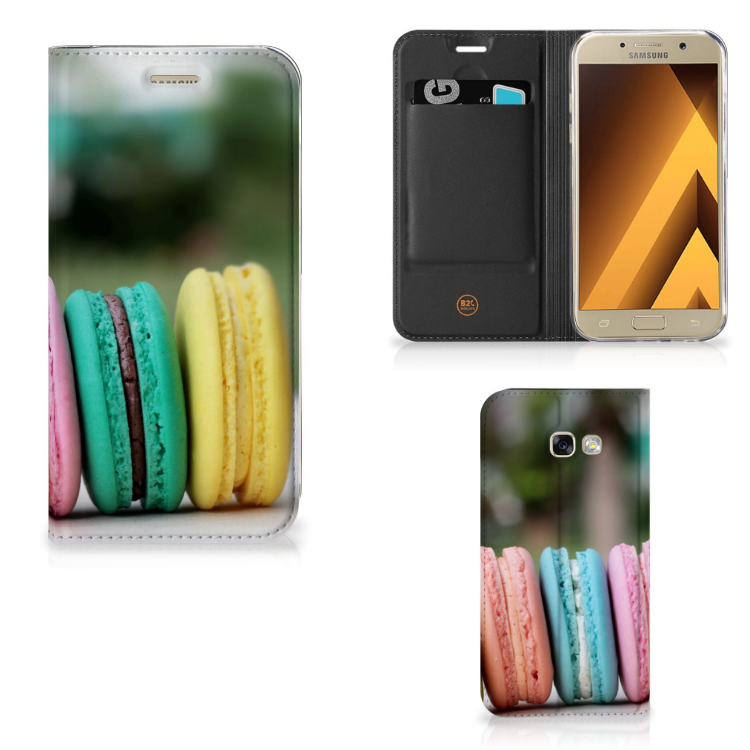 Samsung Galaxy A5 2017 Flip Style Cover Macarons