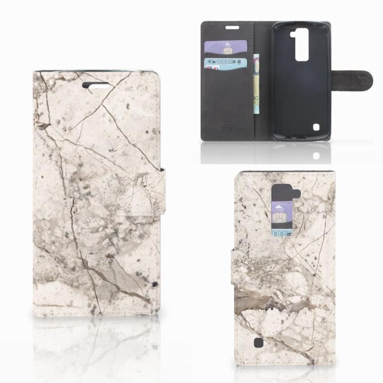 LG K10 2015 Bookcase Marmer Beige