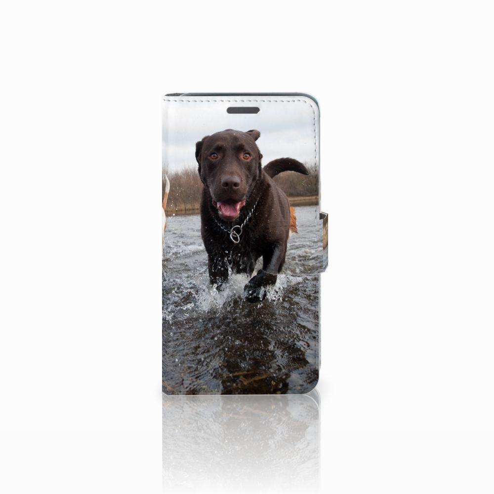 Wiko Rainbow Jam Telefoonhoesje met Pasjes Honden Labrador