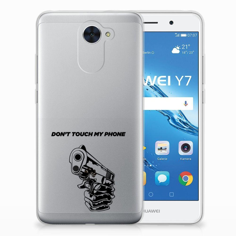 Huawei Y7 (2017) | Y7 Prime (2017) Uniek TPU Hoesje Gun DTMP
