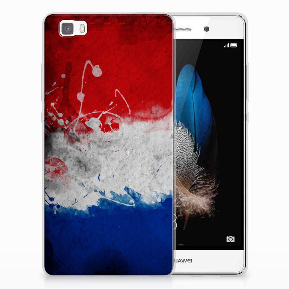 Huawei Ascend P8 Lite Uniek TPU Hoesje Nederlandse Vlag