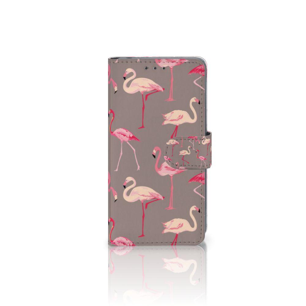 Sony Xperia Z2 Uniek Boekhoesje Flamingo