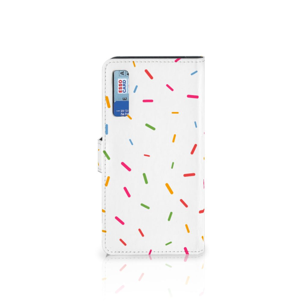 Samsung Galaxy A7 (2018) Book Cover Donut Roze