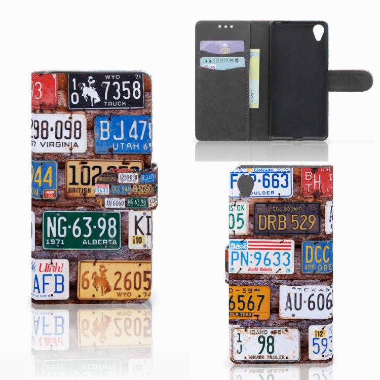 Sony Xperia X Telefoonhoesje met foto Kentekenplaten