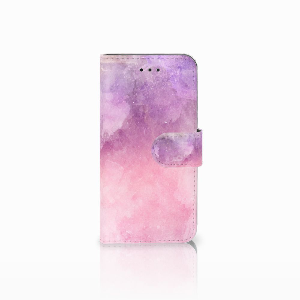 Apple iPhone X | Xs Boekhoesje Design Pink Purple Paint