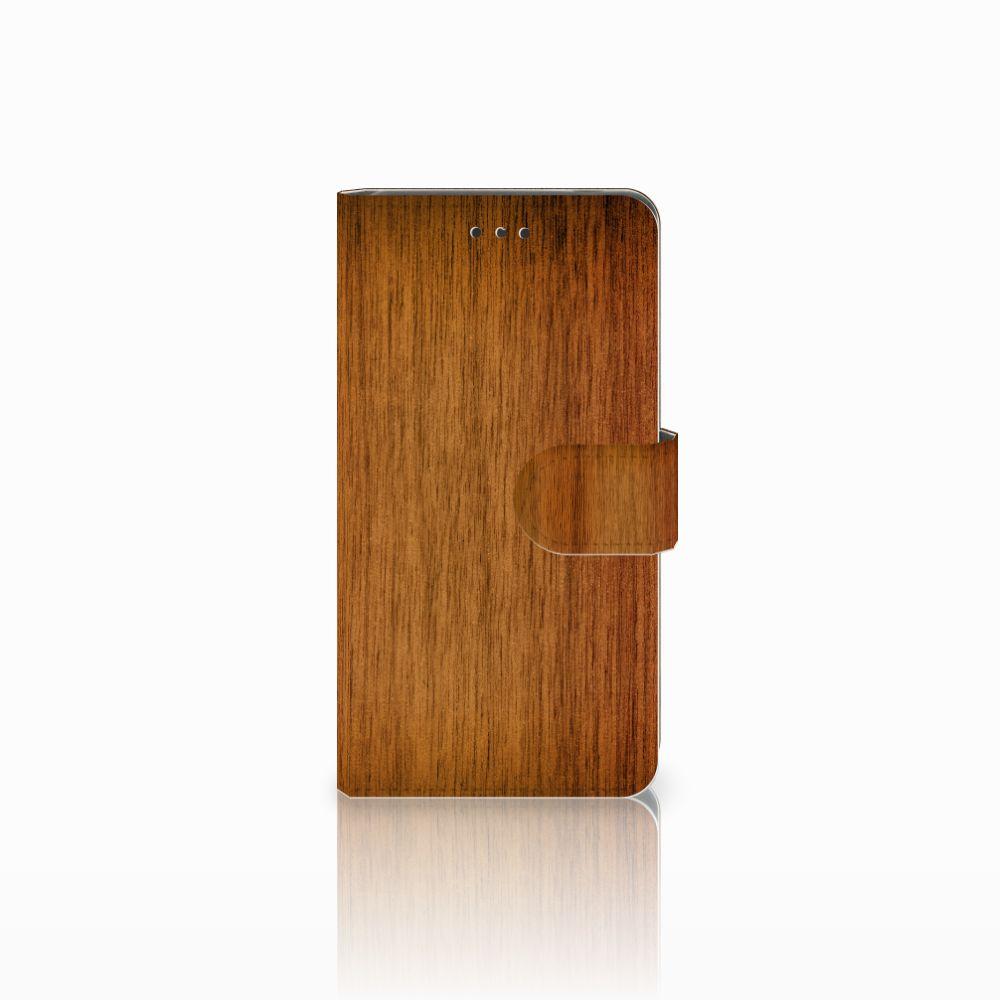 Nokia 7 Uniek Boekhoesje Donker Hout
