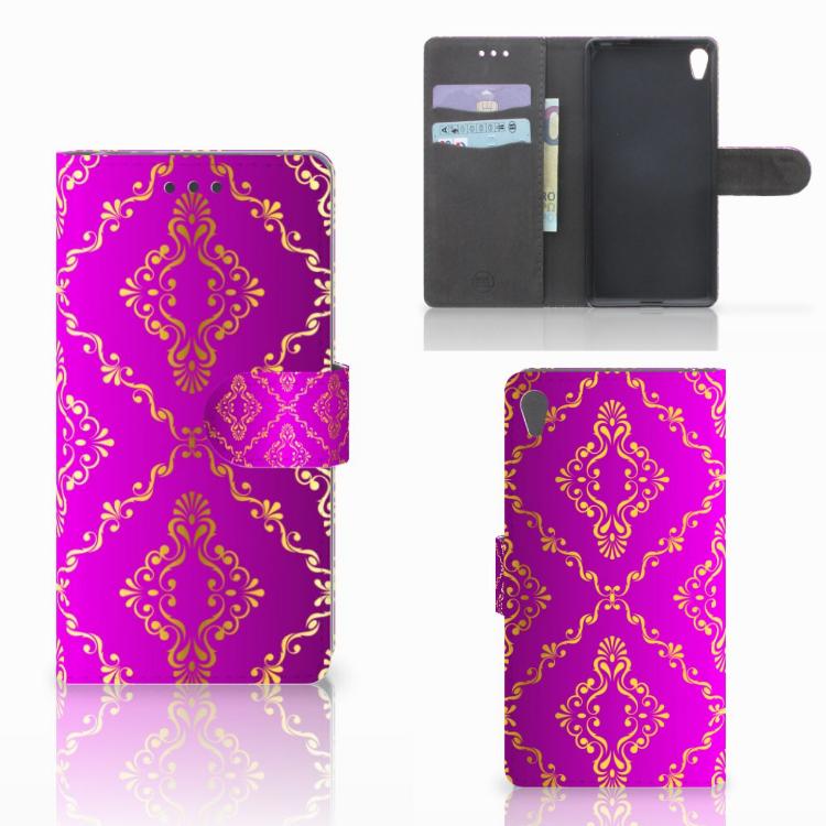 Wallet Case Sony Xperia E5 Barok Roze